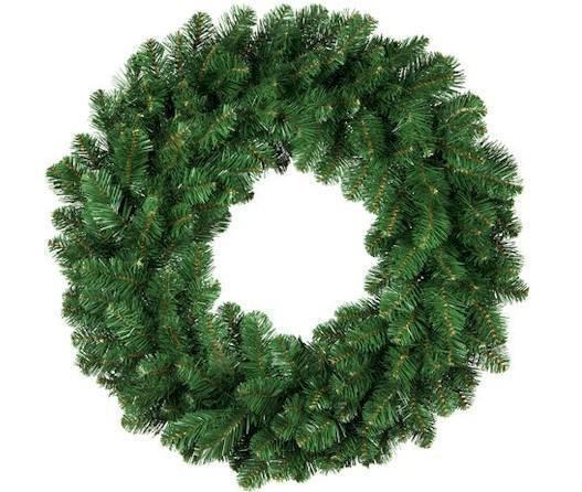 "24"" Un-Lit Christmas Wreath - Forever LED Christmas Lights"