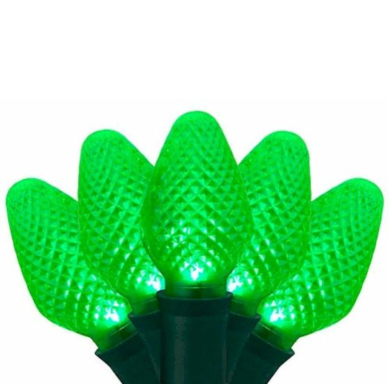 25 Green LED C7 - Premium - LED Christmas Lights - Forever LED Christmas Lights