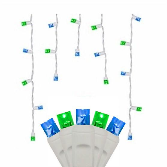 70 Blue & Green Icicles - Premium - LED Christmas Lights