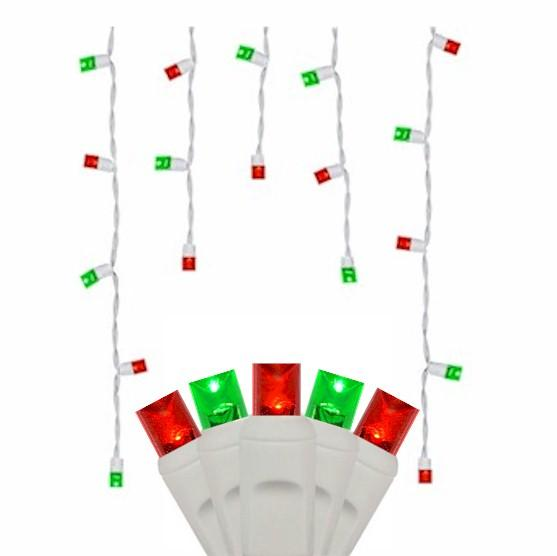 70 Green & Red Icicles - Premium - LED Christmas Lights