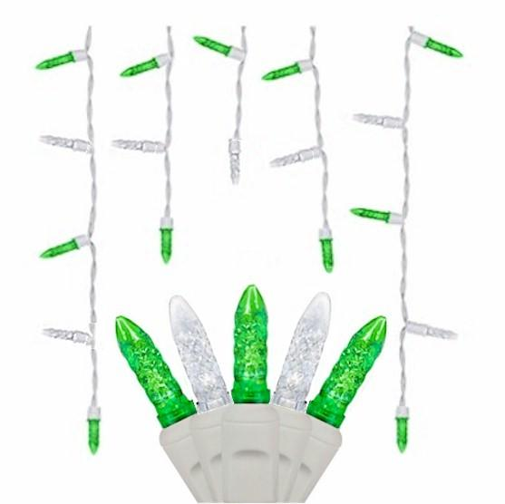 70 Green & Cool White Icicles - Premium - LED Christmas Lights