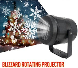 White Snowflake & Dot Motion Laser Projection Lights