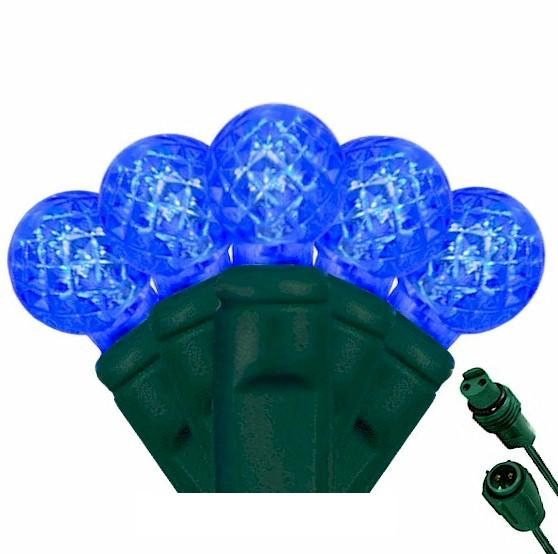 G12 Blue 25 LED Berry Lights – Commercial String Lights