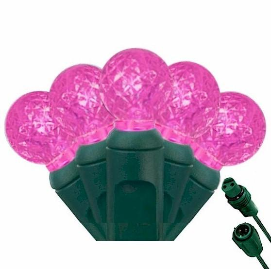 G12 Pink 25 LED Berry Lights – Commercial String Lights