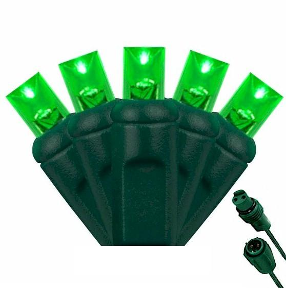 25 Commercial Light Green 5mm Wide Angle Lens - LED String Lights - Forever LED Christmas Lights