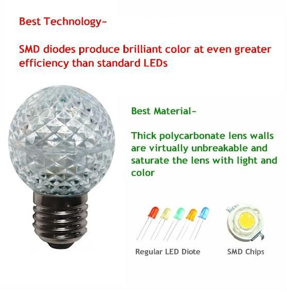 G40 Warm White LED Bulbs