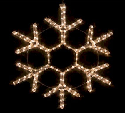 "12"" LED Snowflakes Blue - White - Warm White"