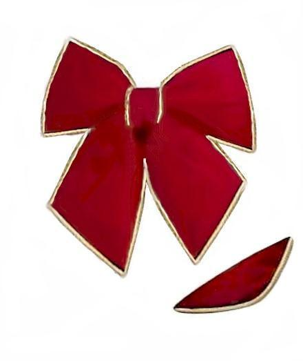 Poly Filled Red Bow
