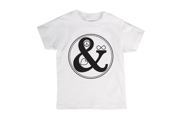 iiixkids Peace & Love Forever - white american apparel kids tshirt