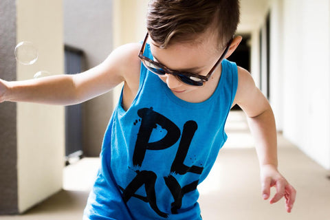 iiixkids PLAY - blue american apparel tank top