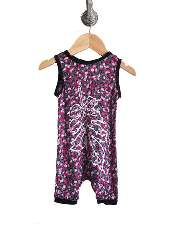 iiixkids Fall into Spring - floral tank top romper