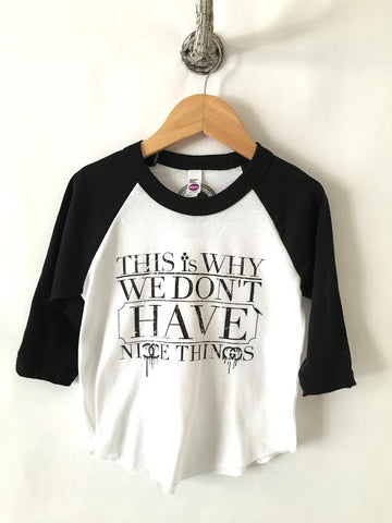 iiixkids Nice Things? - tri-blend black american apparel kids tshirt raglan