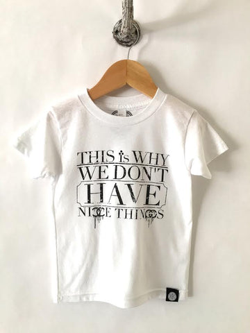 iiixkids Nice Things? - white american apparel kids tshirt