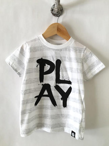 iiixkids PLAY ash white stripe american apparel tshirt