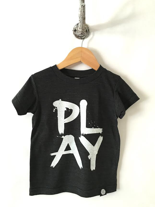 iiixkids PLAY - tri-blend black american apparel kids tshirt