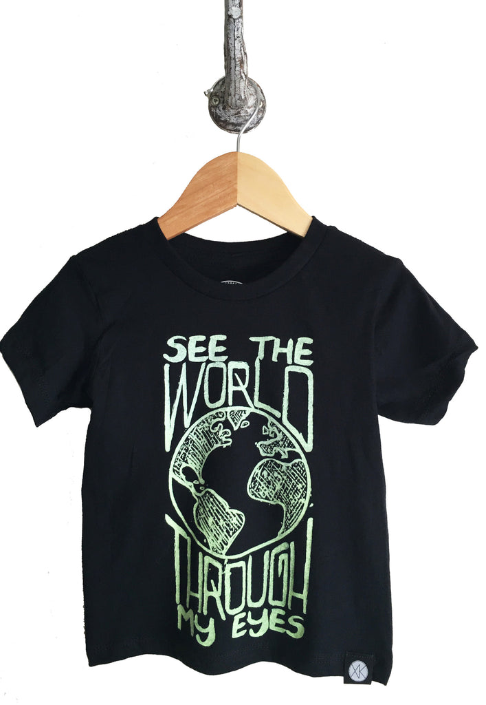 iiixkids See the World through my Eyes - black american apparel tshirt
