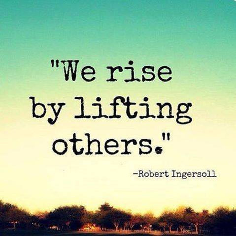 Lifting others to make it into heaven.
