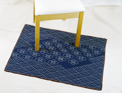 Sashiko stitched shower or bath mat