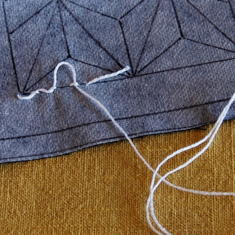 starting your stitching without a knot