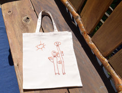 child's drawing on a bag