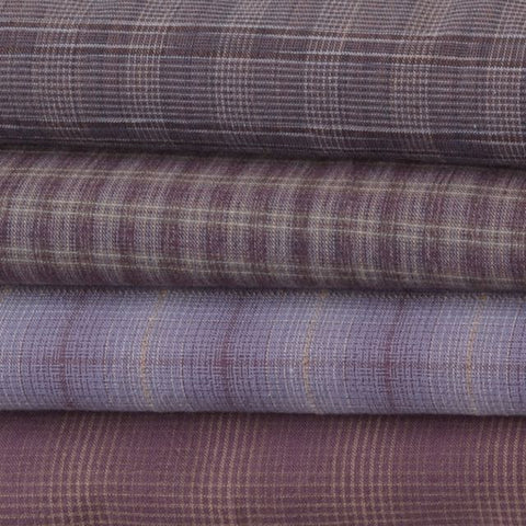 dyed yarn cotton fabrics purples