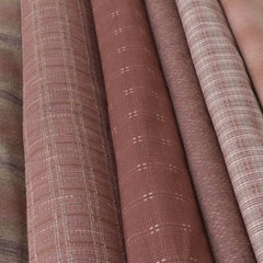 yarn dyed fabric brick red