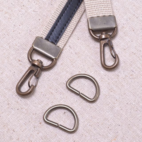 metal bag strap swivel clip with clamping end
