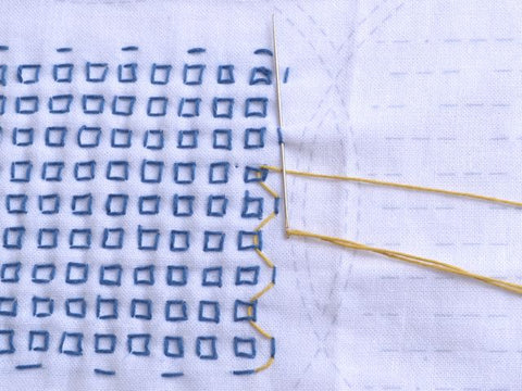 sashiko stitching and weaving