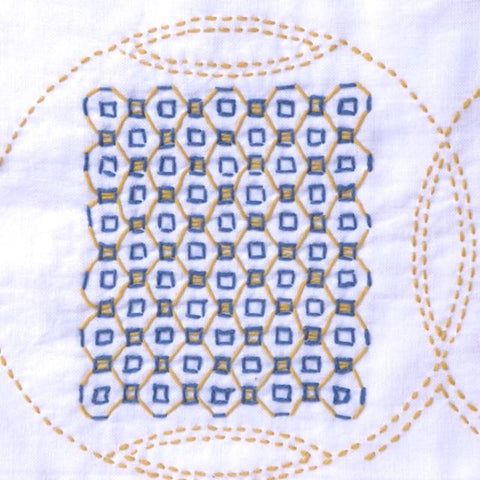 sashiko and weaving coin design