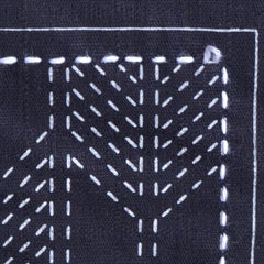 Sashiko Stitching: Leave a loop of thread when you turn a corner