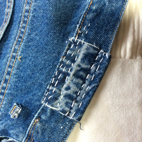 How to boro stitch a patch - A Threaded Needle