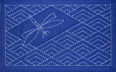diamond waves sashiko design