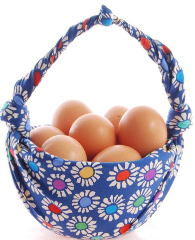 fabric wrapping egg bowl furoshiki