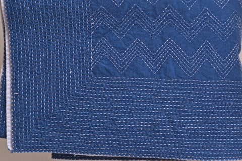 sashiko stitched cotton fabric