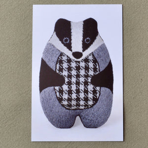 Kiriki embroidery kit, Badger stuffie