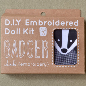 Embroidery Kit, Badger