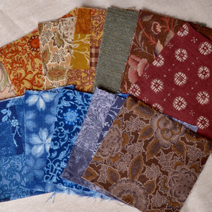 small pieces Japanese sarasa fabrics