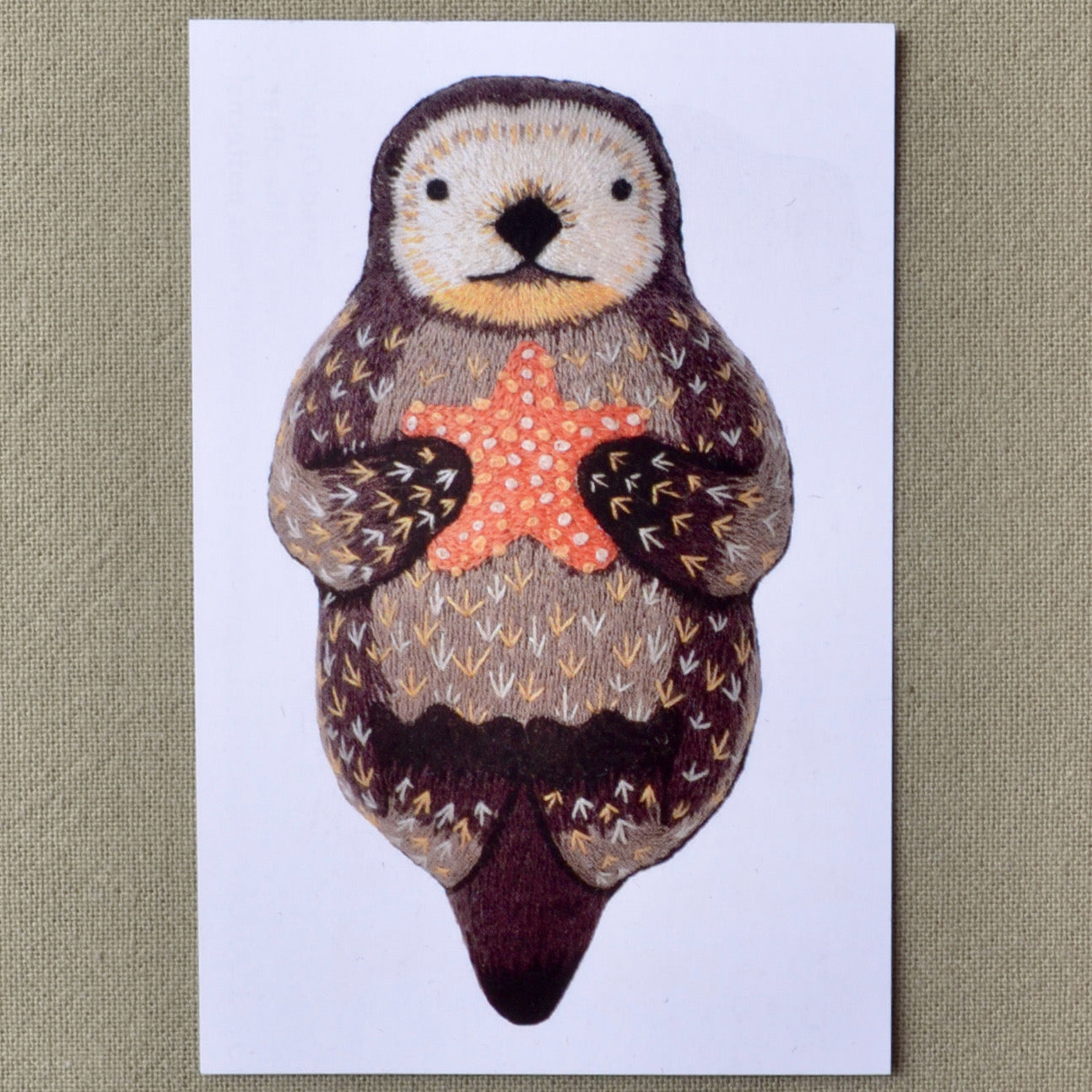 Embroidered Otter with Starfish, Kiriki Kit