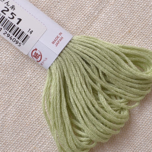 Light green Kogin thread