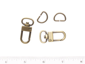 Inazuma bag parts  swivel clip with D rings