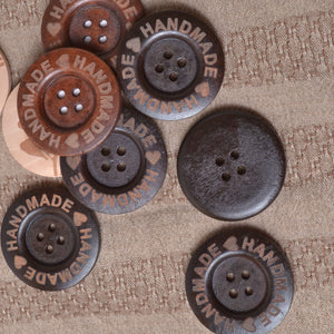 buttons, large wood, handmade