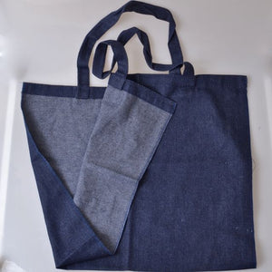 denim tote bag blank