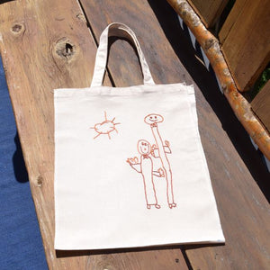 Tote Bag Blank with Embroidery