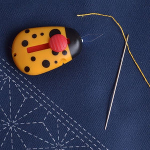 Needle Threader with cutter, Needle Beetle