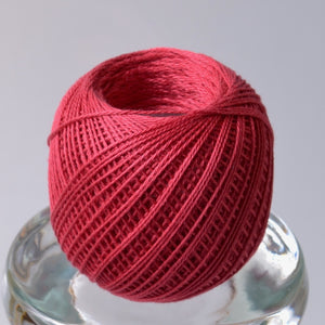 Thin sashiko thread, rose red