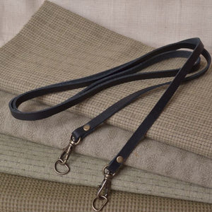 narrow bag strap with antique gold swivel clip