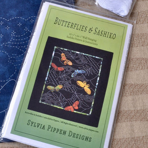 sashiko and applique pattern by Sylvia Pippen