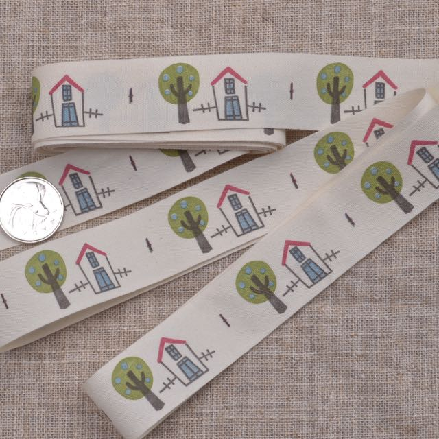 cotton house trees sewing ribbon