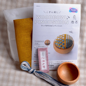 Wood Bowl Pincushion