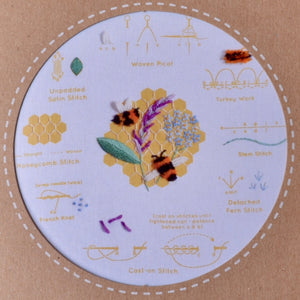 Embroidery kit Honeybees